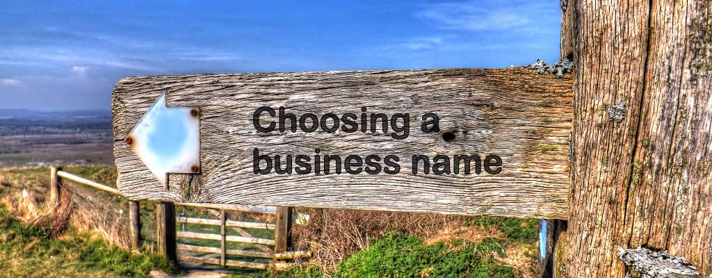 Choosing a business name