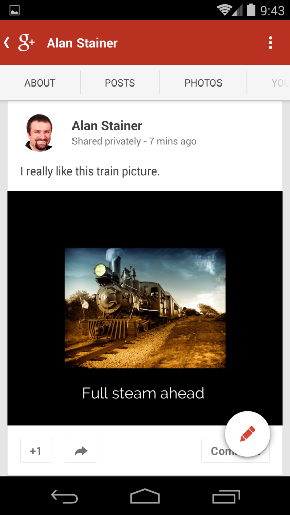 Full steam ahead - boredered and on a smartphone
