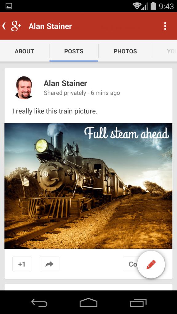 Full steam ahead - borderless on a smartphone