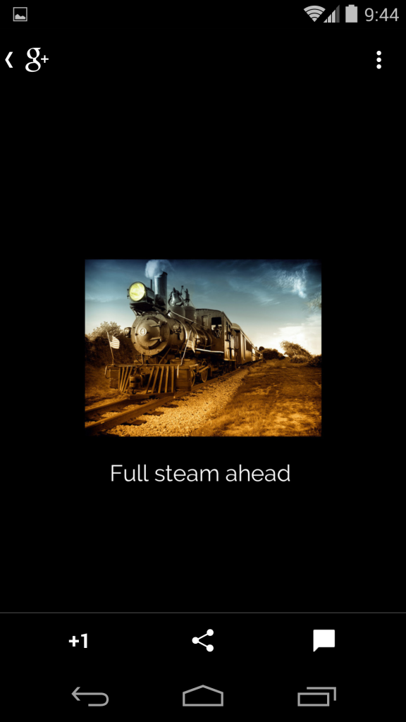 Full steam ahead - bordered and full screen on a smartphone