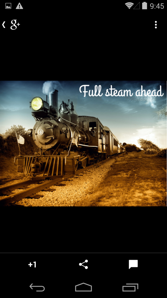 Full steam ahead on a smartphone on it's own