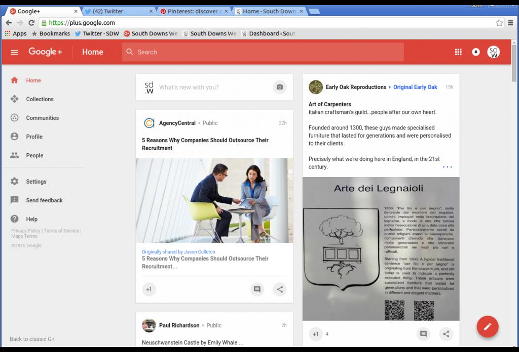 The new Google+ Home Stream