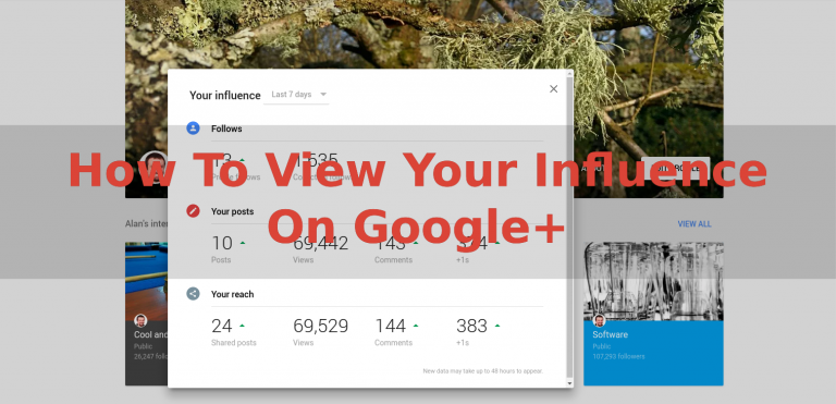 How To View Your Influence On Google+